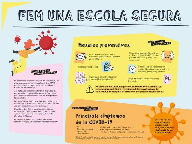 L'Ajuntament de Girona llança una campanya comunicativa als centres educatius sobre les mesures de la COVID-19